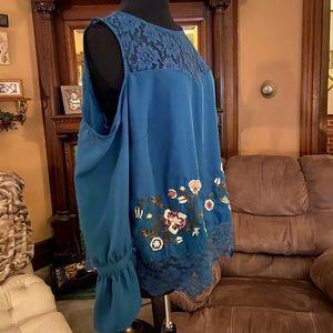 Jessica Simpson cold shoulder blouse